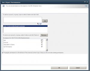 Set Metadata Store Permissions
