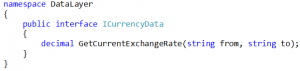 The interface for CurrencyData is