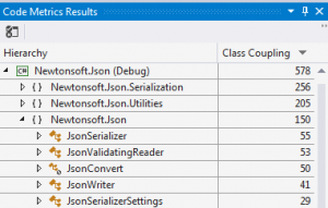 Code Metric Results in Visual Studio