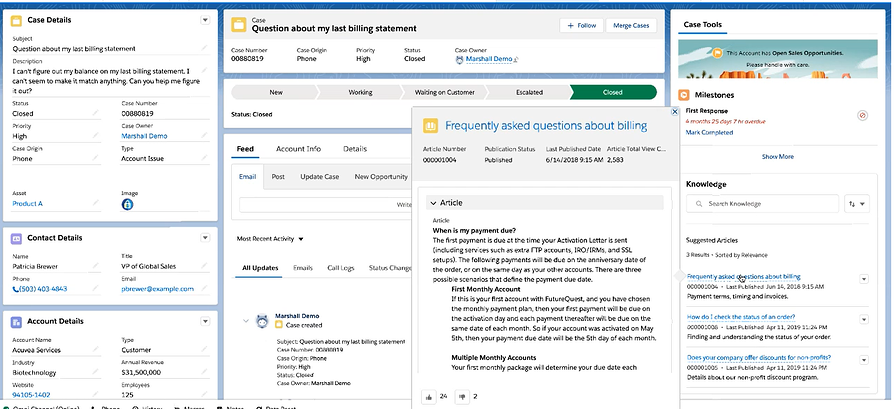 Salesforce Article Recommendations